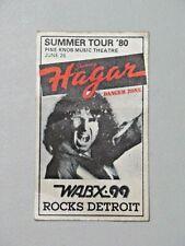 Vintage 1980 SAMMY HAGAR Cloth Concert Sticker WABX99 Rocks Detroit Pine Knob