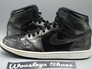 Nike Air Jordan 1 Retro High Black Patent Sz 10.5 US 332550-017