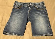 Women's Silver Lexi Short Shorts~Sz 26~See Pics