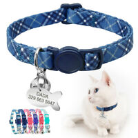Cat Breakaway Collar with Name Tag Personalized Anti-lost & Quick Release Buckle