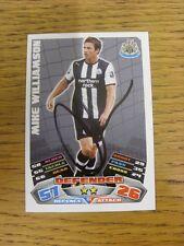 """2011/2012 AUTOGRAFO: Newcastle United-Williamson, Mike [firmato a mano """"TOPPS MAT"""