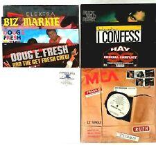Hip Hop 80's-90's Vinyl Records Various Artist Lot of 9