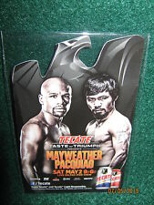 "Mayweather vs. Pacquiao ""Tale Of The Tape"" Collector's Cards (Two) 2.5"" x 4""s"