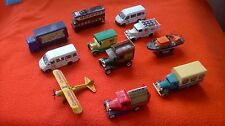 LARGE LOT (11) OF DIE-CAST CARS, LORRIES, BOAT AND PLANE IN SUPERB CONDITION