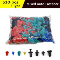 500* Plastic 8 Kinds Mixed Car Trim Panel Clip Fasteners Rivet Retainer Push Pin