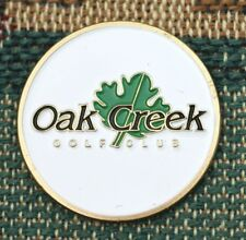 """Oak Creek Golf Club 1"""" Gold Plated Golf Ball Marker by Golf Design Usa"""