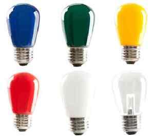 Halco LED S14 1.4W Multi Color Dimmable E26 Medium Base Light Bulb 120V ProLED