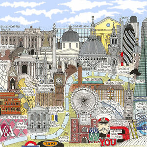 Limited Edition Art Print 'TOUR OF LONDON' Artist signed & numbered picture