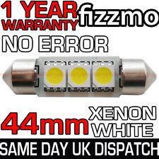 3 SMD LED 44mm C5W CANBUS NO ERROR XENON WHITE NUMBER PLATE LIGHT FESTOON BULB