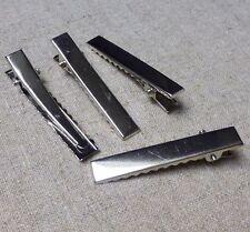 Silver long Crocodile Alligator Pince à cheveux 57 mm-Pack de 20