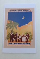LOT (6) NEW 1977 NEW ORLEANS JAZZ HERITAGE FESTIVAL FEST  POSTER CARD POSTCARDS