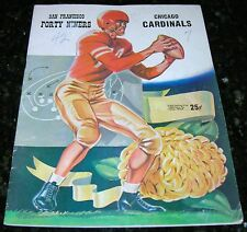 1954 SAN FRANCISCO 49ers CHICAGO CARDINALS (now Phoenix Cardinals) NFL PROGRAM