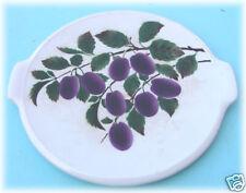 Plat à tarte Sarreguemines   décor aux prunes