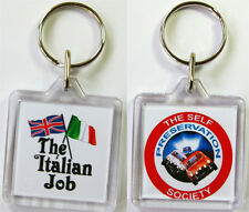 The Italian Job Union Jack And Italian Flag Keyring U1 Self Preservation Society