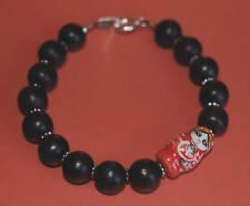 Rojo Muñeca Rusa Y Negro wood/wooden bracelet-cute