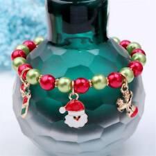 Alloy Women's Jewelry Bead Bracelets Lady 1Pc Gift Santa Claus Elk Pendant LE