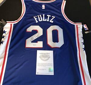 Markelle Fultz Game Jersey #20 Philadelphia 76ers Blue Upperdeck UDA Certified