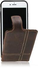 Apple iPhone 7/4.7'' Echt Leder Handytasche Flip Matador Dark Braun-2 Case Hülle