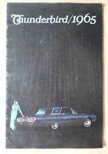 FORD Thunderbird ORIG 1965 USA titoli di grande formato Prestige vendita BROCHURE CATALOGO