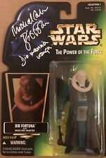 MICHAEL CARTER SIGNED STAR WARS BIB FORTUNA THE POWER OF THE FORCE BECKETT COA