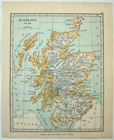 Vintage Map of Scotland from 1641-1892 by Longmans Green & Co. 1907