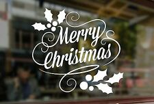 MERRY CHRISTMAS Sticker Customers Window Santa Art Xmas Vinyl Shop Sign Retail 2