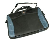 "Swiss Gear Wenger Laptop Bag Black / Navy Blue 15"" Padded Carry Case Luggage"