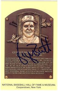 George Brett Autographed Signed HOF Postcard Kansas City Royals JSA M36036