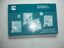 Cummins Diesel ISL9  CM2350  L101 Engines Factory OWNERS MANUAL Service Shop OEM