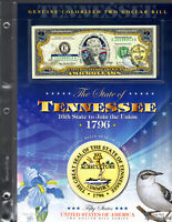 Uncirculated 2003 A Series $2 Two Dollar Bill Enhanced Tennessee State Design