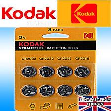 UK Kodak Xtralife Batteries 3V Lithium Button Coin Cell CR2032 CR2025 CR2016 NEW