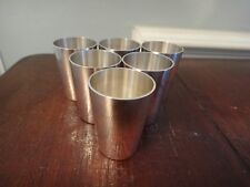 Antique Set Six 835 Silver Grappa Cups Emil Hermann Germany Petit Shot Glass