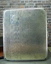 Antique Art Deco 1937 Samuel M. Levi (SML Ltd) Sterling Silver Cigarette Case