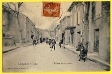 cpa Belle Animation 11 - LÉZIGNAN CORBIERES en 1907 (Aude) Avenue Victor HUGO