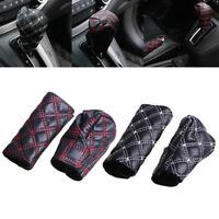Universal PU leather car hand brake cover&gear shift stick cover car accessori Z