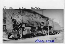 O512 RP 1930s  CRI&P RR ROCK ISLAND TRAIN ENGINE #1971 2-8-0 TOPEKA KS