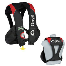 Onyx A33 In-Sight Deluxe Tournament Automatic Inflatable Life Vest PFD Black/Red