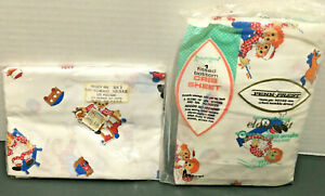 New Vintage Toddletime Raddedy Ann & Andy Crib Sheet & 2 Pack pillow cases 60's
