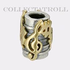 Authentic TrollBeads Silver & 18kt Gold Hallelujah TrollBead  41819