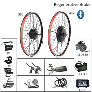 20-29 inch 700C Electric Bicycle Conversion Kit Front Rear Hub Motor Wheel