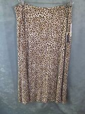 Karen Kane Leopard Print Knit Skirt Plus Size 3X NWT