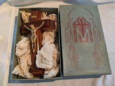 1940s Last Rites Cross Wooden Wall Crucifix Standing Hidden Box Area Religious