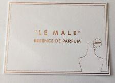 "Tres Jolie carte Parfumée ""Le Male "" Essence De Parfum De Jean Paul Gaultier"