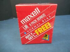 Lot Of 8 Blank Maxell  Audio Cassette Tapes UR 60