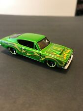 "Hot Wheels ""Customized"" '68 Hemi Cuda Green Racing Flames Plymouth Coupe"