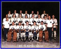 NHL 1971 - 72 Buffalo Sabres Color Team Photo Picture 8 X 10 Photo Picture