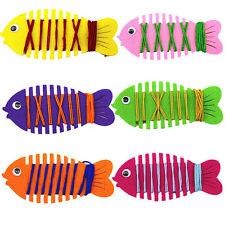 DIY Fish String Line Winding Toy Handmade Educational Kids Children Xmas Toys LC