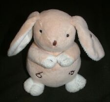 Plush Letter Alphabet Bunny Lovey Toy Beige Lovie Baby Rabbit Chubby Stuffed