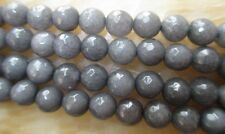 8mm Faceted Gray Tourmaline Round Loose Beads 15''##DC005