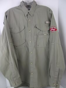 Columbia PFG Omni Shade Vented Fishing Long Sleeve Tomato Heinz Seed Shirt Sz L
